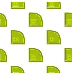 green baseball field pattern seamless vector image