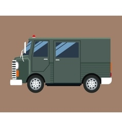 Green truck van delivery shipping mail service vector