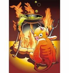 inferno vector image