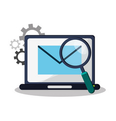 Laptop computer device vector