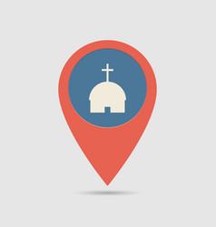 Map pin church vector