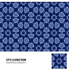 Pattern blue vector image vector image