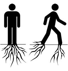 Rooted man vector image