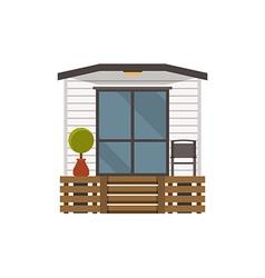 Scandinavian flophouse building vector