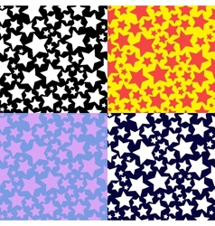 set of patterns with stars vector image vector image