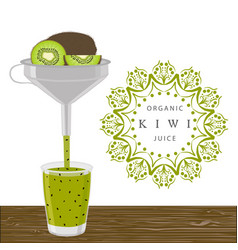 The theme kiwi vector
