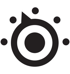 Thermostat icon vector