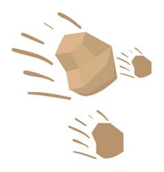 Throwing stones icon cartoon style vector