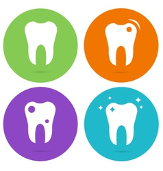 Tooth teeth circle icons vector image