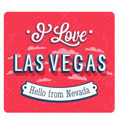 vintage greeting card from las vegas vector image vector image