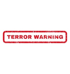 Terror warning rubber stamp vector