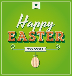 Happy easter card with retro vintage typography vector image