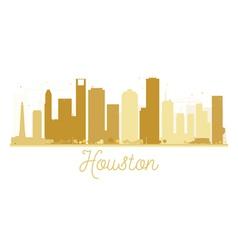Houston City skyline golden silhouette vector image