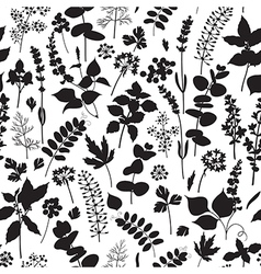Floral silhouette pattern vector