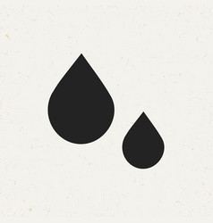Flat drops icon vector