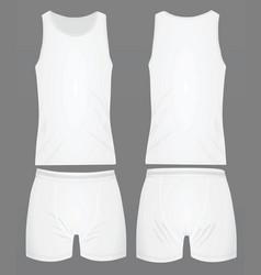 Mens underwear white vector