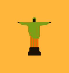 The christ the redeemer statue rio de janeiro vector