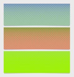 halftone square pattern horizontal banner set vector image