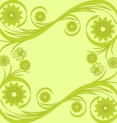 flower background with butterfly vector image