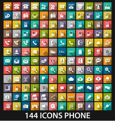 Set phone icon vector