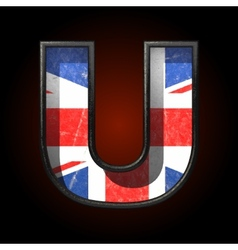 Great britain cutted figure u vector