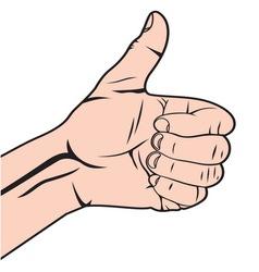 Autostoperski prst beli vector