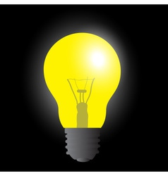 Light bulb yellow light source eps10 vector