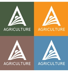 Agriculture monogram vector