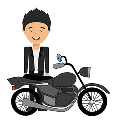 Man motorcyclist design vector
