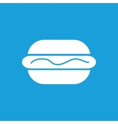 Hotdog with sauce icon white vector