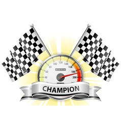 Winner champion speedometer vector