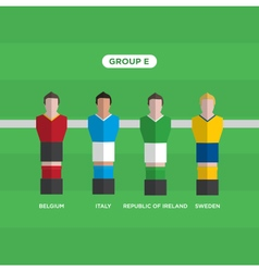 Football players group e vector
