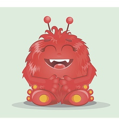 Good red furry monsters 2 vector