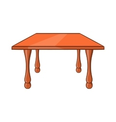 Table icon cartoon style vector