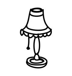 A desk lamp vector image vector image