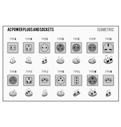 Ac power plugs and sockets vector
