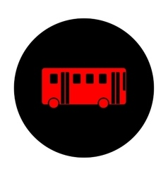 Bus simple icon vector image