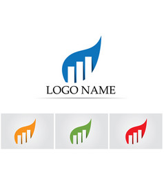 Business finance logo and symbols concept vector