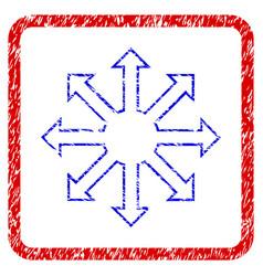 Enlarge arrows grunge framed icon vector