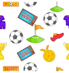 Football pattern cartoon style vector