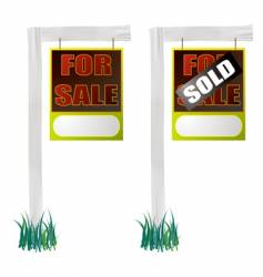 for sale sign hang vector image vector image