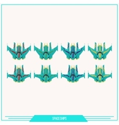Game Element Spaceships vector image vector image