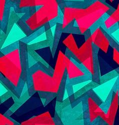 grunge geometric seamless texture vector image