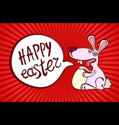 happy easter day for red card design vintage vector image vector image