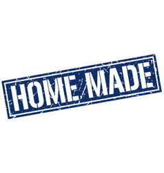 Home made square grunge stamp vector