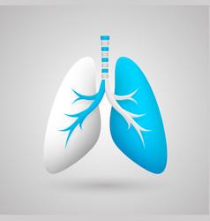 Human lungs medical art creative vector