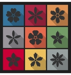 Icons flowers vector image vector image