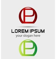 Letter p logo icon vector