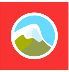 logo with swiss alps vector image vector image