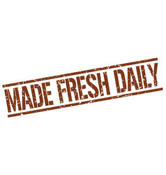 Made fresh daily stamp vector